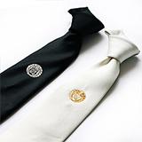 家紋ネクタイ 2色セット 白・黒