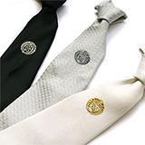 家紋ネクタイ 3色セット 白・黒・グレー
