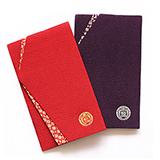 家紋 袱紗 2色セット 紫・赤
