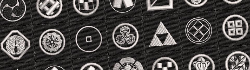 家紋刺繍ネクタイイメージ画像