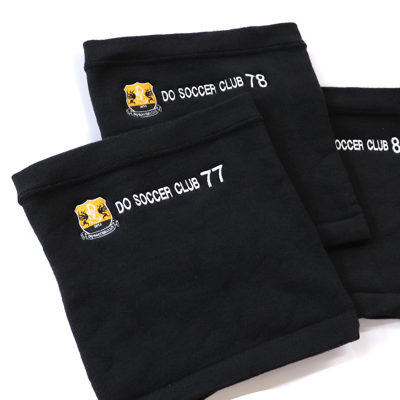 【18075】ホットレイネックウォーマー/黒/オリジナル刺繍+チーム刺繍