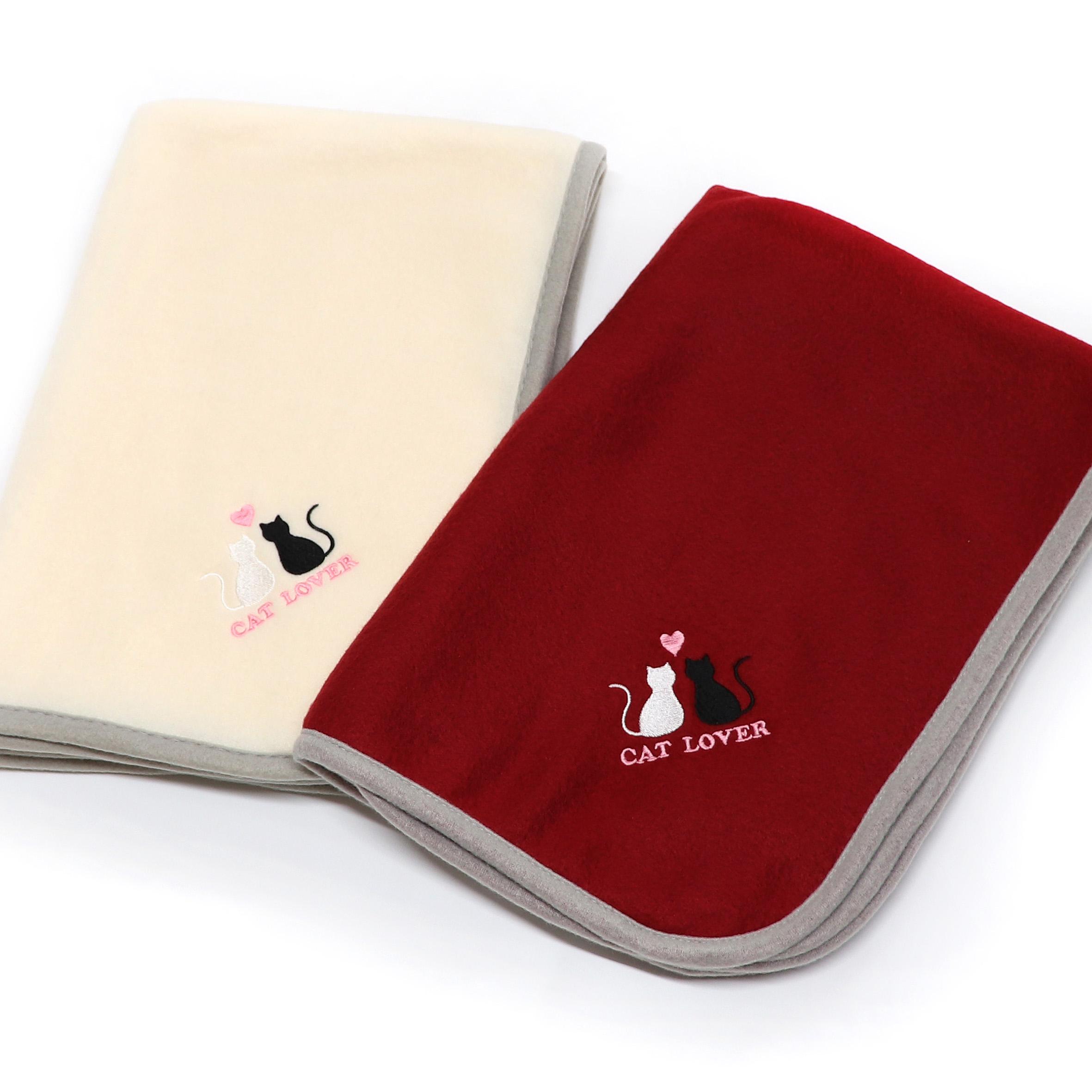 オリジナル刺繍/ブランケット(ひざ掛け)