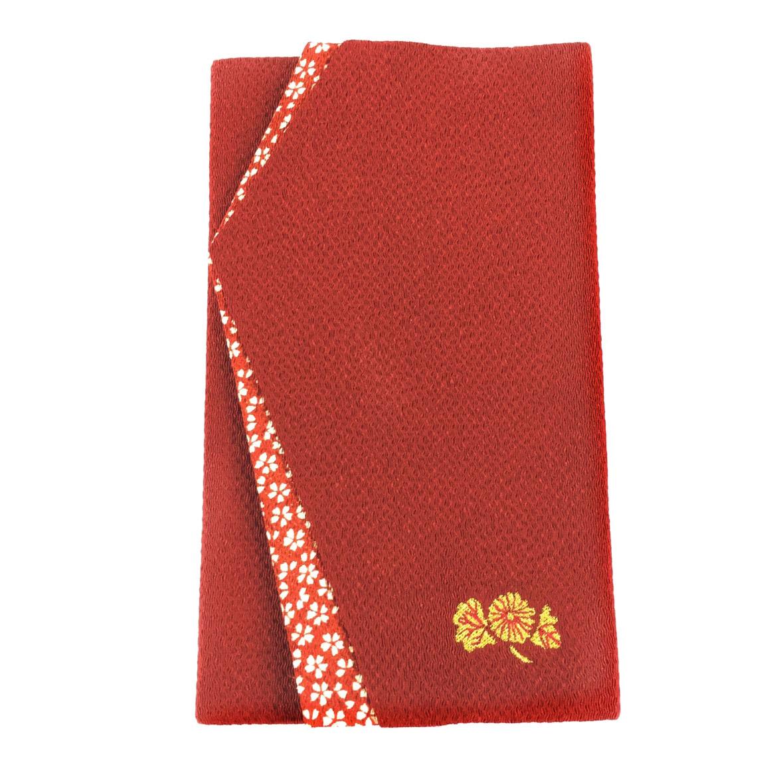 【18726】家紋刺繍(オリジナル)/袱紗:赤
